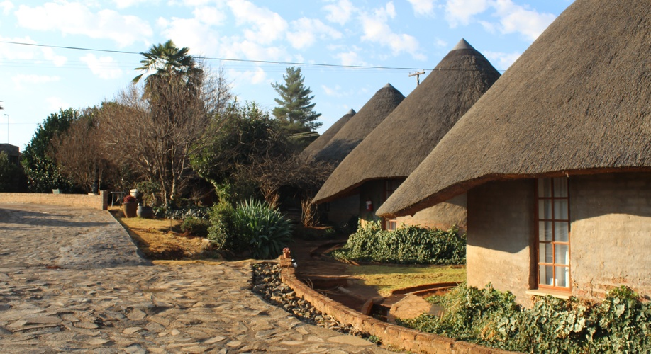 Thatched rondavels with modern interiors